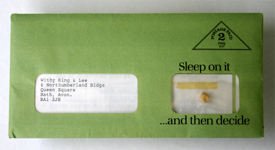 adding a real pea to a direct mail letter