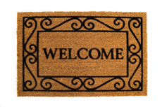home page welcome mat