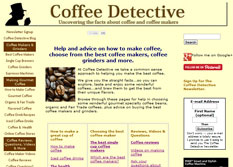 coffee detective money making website