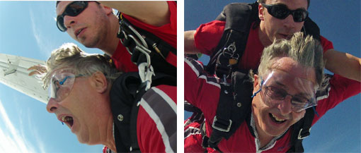 fear and reward of skydiving